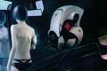Картинка девушка, робот, зеркало, арт, капсула, мониторы