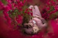 Картинка природа, девушка, цветы