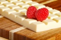 Картинка белый, ягоды, малина, плитка, шоколад