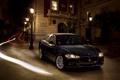 Картинка Maserati, Quattroporte, Свет, Фонари, Лучи, Здание, Фары