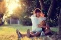 Картинка любовь, поцелуй, пара, она