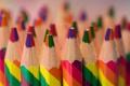 Картинка макро, цветные, карандаши