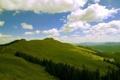 Картинка небо, облака, горы, холмы