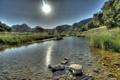 Картинка небо, пейзаж, природа, река