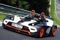 Картинка пилот, KTM, тест, X-Bow, трасса, Nurburgring
