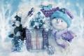 Картинка winter, snowman, snow, новый год, рождество