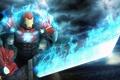Картинка меч, костюм, броня, iron man, fan art, tony stark