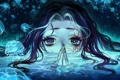 Картинка глаза, вода, девушка, аниме, арт, медузы, silverwing