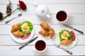 Картинка кофе, завтрак, сердечки, love, rose, heart, cup