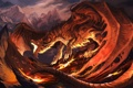 Картинка красный, дракон, огненый, Fireplay