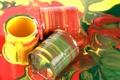 Картинка краска, цвета, жёлтый, зелёный, баночки, яркие, Paint