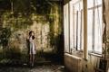 Картинка девушка, фон, комната