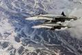 Картинка Hornet, McDonnell Douglas, истребители, F/A-18, пара