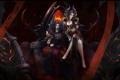 Картинка женщина, узор, мужчина, Onyxia, Blackwing Lair, трон, World of Warcraft