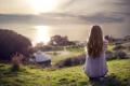 Картинка девушка, пейзаж, настроение, Magic Hours