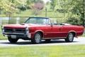 Картинка красный, фон, 1965, Pontiac, GTO, Понтиак, передок