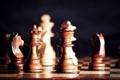 Картинка дерево, спорт, игра, шахматы, доска, фигуры
