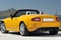 Картинка желтый, Roadster, Мазда, Mazda, вид сзади, Родстер, MX-5