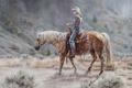 Картинка лошадь, склон, всадник
