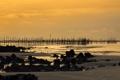 Картинка закат, камни, пляж, Пара, Algodoal, Бразилия