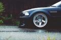 Картинка stance, bmw m3, car, тюнинг, черная, пасмурно, дождь