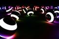 Картинка шары, яркий цвет-свет, светящиеся полоски