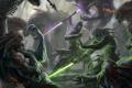 Картинка Star Wars, меч, битва, Massassi, The Old Republic, арт, Jedi