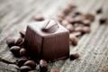 Картинка кофе, сладкое, зерна, десерт, шоколад, конфета, сладости