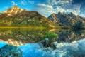 Картинка озеро, отражение, гора