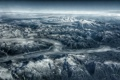 Картинка Mountains, Glacier, Cloudscape, Landscape, Avaiation, Usa, Snowcapped