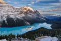 Картинка Канада, Альберта, Скалистые горы, Национальный парк Банф, Пейто, ледниковое озеро