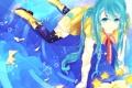 Картинка девушка, сапоги, аниме, арт, бант, звездочки