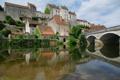 Картинка мост, река, Франция, дома, Пем