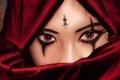 Картинка глаза, лицо, убийца, девушка, assassin, взгляд, знак