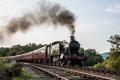 Картинка поезд, паровоз, железная дорога
