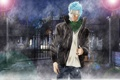 Картинка свет, ночь, город, дождь, Аниме, парень, Bleach