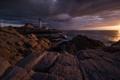 Картинка sea, ocean, coast, sunset, cloud, lighthouse