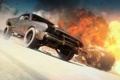 Картинка огонь, погоня, скорость, машины, mad max