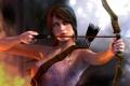 Картинка девушка, огонь, лук, Tomb Raider, Lara Croft