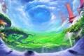 Картинка небо, долина, online, ether saga