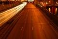 Картинка дорога, машины, мост, огни, Москва