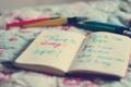 Картинка текст, блокнот, ручки, слова