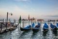 Картинка небо, лодка, Италия, церковь, Венеция, канал, гондола