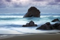 Картинка море, волны, шторм, камни, прилив