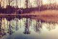 Картинка лодки, reflection, trees, озеро, boats, lake, деревья
