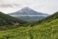 Картинка облака, горы, природа, ущелье, Россия, туристы, Kamchatka