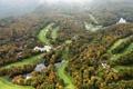Картинка осень, поля, панорама, США, леса, реки, North Carolina