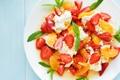 Картинка мята, клубника, fresh, фрукты, berries, salad, ягоды