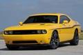 Картинка желтый, Додж, Dodge, SRT8, Challenger, передок, Muscle car