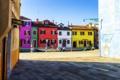 Картинка краски, дома, Италия, Венеция, остров Бурано